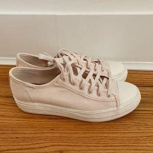 Light Pink Keds Triple Kick Platform Sneakers